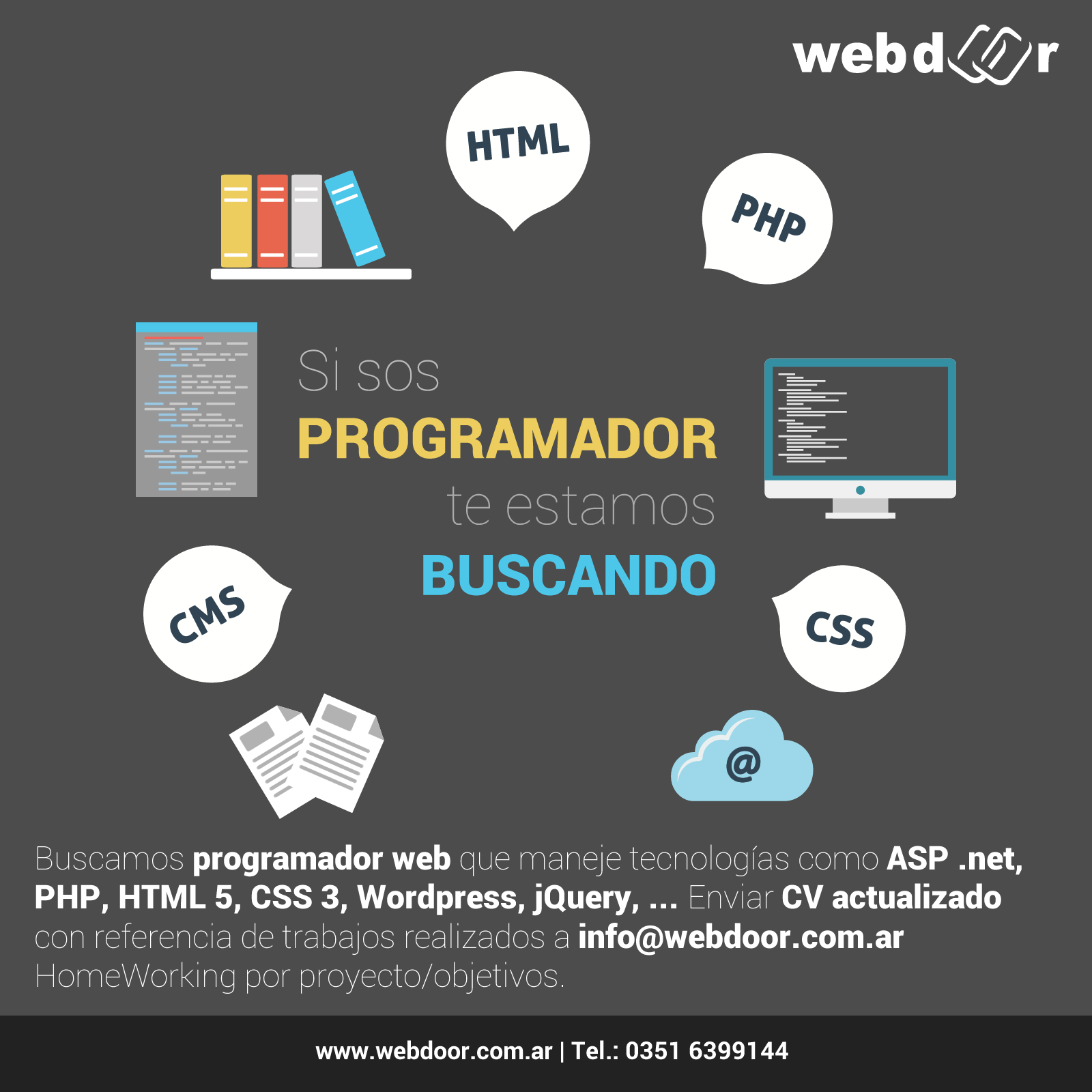 WEBDOOR incorpora programadores web a su staff |